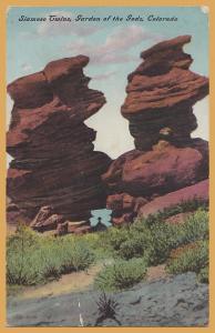 Colorado Springs, Colo., Siamese Twins, Garden of the Gods - 1910