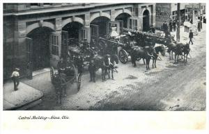 9729   OH Lima   Central Fire Station, Horse drawn  Fire Wagons