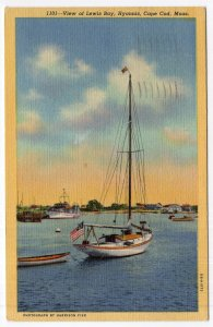 Hyannis, Cape Cod, Mass, View of Lewis Bay