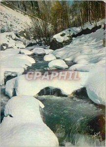 Postcard Modern France Snow Landscape