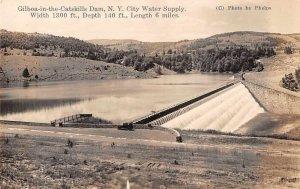 Gilboa-in-the-Catskills Dam New York Scenic View Real Photo Postcard JJ658903