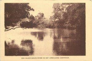 River Africa postcard 1957 Belgium Baarle Nassau Paters v. d. H. Geest