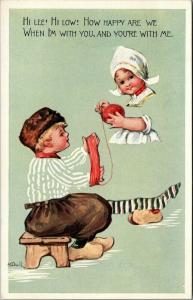 M Dulk Fade Away~Dutch Kids Roll Yarn Ball~Happy Together~Gibson Art Lines~