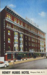 Henry Hubbs Hotel Niagara Falls NY New York Unused Vintage Linen Postcard E3