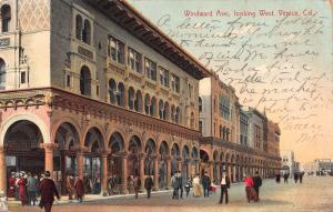 Windward Ave. looking West, Venice, California, Very Early Postcard, Used