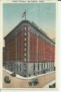 Springfield,Mass., Hotel Kimball