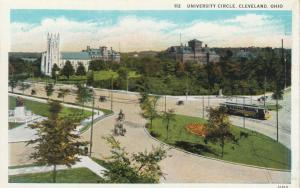 CLEVELAND , Ohio , 1910s ; University Circle, Trolley