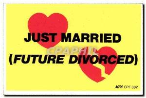 Modern Postcard Just married divorced Future