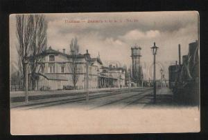 054062 UKRAINE Poltava Railway station Vintage PC