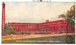 Hood's Sarsaparilla Laboratory Advertising Unused writing on front