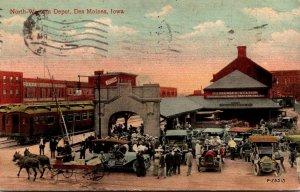 Iowa Des Moines Northwestern Depot 1913