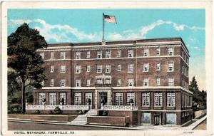 1930 FARMVILLE Virginia VA Postcard HOTEL WEYANOKE
