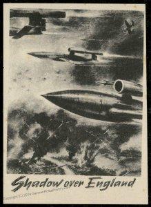 V1 Shadow Over England Rocket Leaflet London Blitz 93380