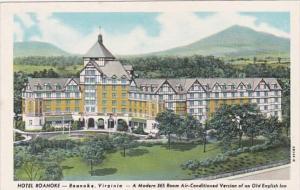 Virginia Roanoke Hotel Roanoke Curteich