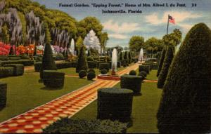 Florida Jacksonville Formal Garden Epping Forest Home Of Mrs Alfred I du Pont...