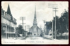 dc1037 - FRASERVILLE Quebec Postcard 1910s Church Street by Belle