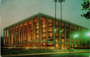 Philharmonic Hall Lincoln Center NY New York Vintage Postcard D73