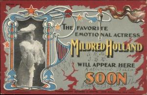 New York City Broadway Theatre Mildred Holland Private Mailsing Card