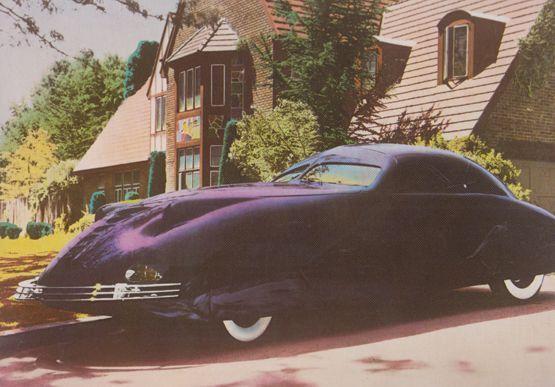 1938 Phantom Corsair Helena Zakrzewska Car Postcard