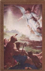Christmas Angel Over Shepherds