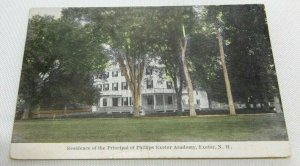 Vintage Postcard - Residence of Principal Phillips Exeter Academy, Exeter, N.H.