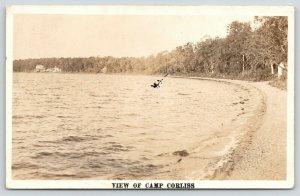 Battle Lake MN Camp Corliss (Bonnie Beach Resort) Clitherall Township~1930s RPPC