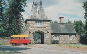 Llanarth Court Raglan Gwent Royal Mail Van Postman in Post Bus Wales Postcard