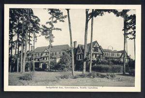 Nice Greensboro, North Carolina/NC Postcard, Sedgefield Inn