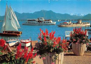 Am Chiemsee Schiff Boats Bateaus Lac Mountains