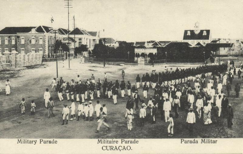curacao, WILLEMSTAD, Parade Parada Militar, Military Music Band (1910s) El Globo