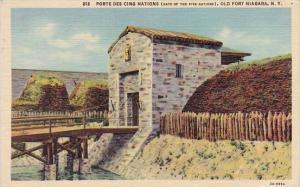 New York Old Fort Niagara Porte Des Cino Nations