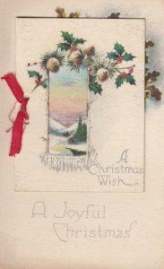WINSCH ; Christmas Booklet Postcard, Winter Cottage scene , 00-10s