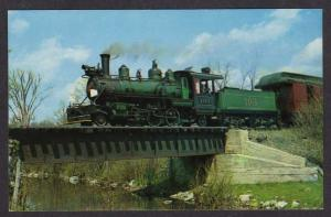 NY Empire State Train Railroad SLATE NEW YORK Postcard