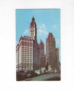 Vtg 50's Wrigley and Tribune Towers, Chicago, Illinois Postcard