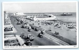 *1950s Marine Parade Band Enclosure Worthing Sussex UK Vintage Postcard C86