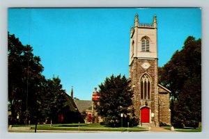 Burlington VT- Vermont, St. Paul's Episcopal Church, Religion, Chrome Postcard