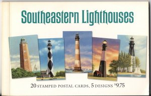 Southeastern Lighthouses - Pre-Stamped Postal Cards - Mint