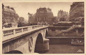 France Paris Le Pont la Place St Michel 1936