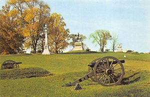 Civil War Post Cards East Cemetery Hill Gettysburgh, Pa, USA Writing on back