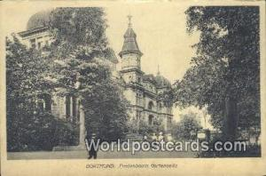 Dortmund Germany, Deutschland Postcard Fredenbaum Gartenseite Dortmund Freden...