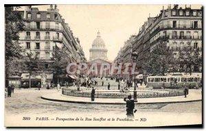 Old Postcard Paris Pardpective Soufflot Street and Pantheon