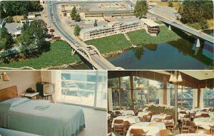 Grants Pass Oregon~Bridge to Riverside Motel~Restaurant~TV in Room~Rotary Phone