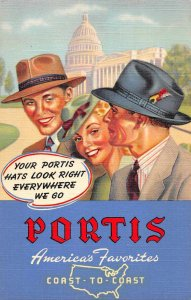 Atlantic Iowa Neff Clothing Portis Hat Advertising Vintage Postcard JJ658881