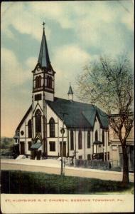 Reserve Township AP St. Aloysious RC Church c1910 Postcard