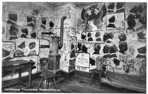 RPPC - Germany, Heidelberg, Students' Historical Writings on the Wall of the ...