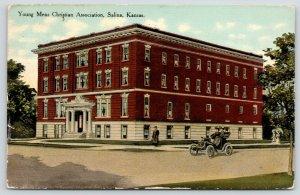 Salina Kansas~YMCA Building~West Iron Avenue~Razed 1978~Pillars Survived~1910 PC