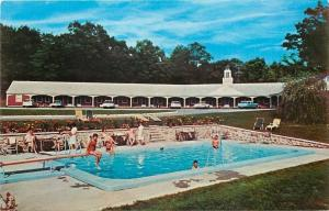 Millers Falls Massachusetts~French King Motel~Swim Pool~Bathing Beauties~1960s