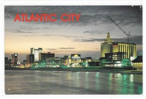 Atlantic City NJ Panorama Skyline Sunset Casinos Hotels Jack Freeman Postcard