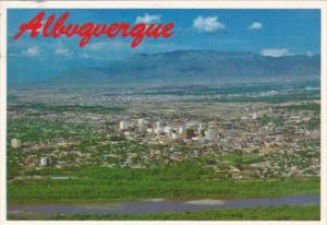 New Mexico Albuquerque Aerial View With Sandia Mountain In Background