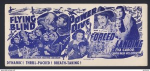 Movie ads for 3 different movies  c.1941 - FLYING BLIND, POWER DIVE, FORCED LAND